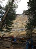 Buryatia 30-meter standbeeld van Boedha in de rots wordt gesneden die Royalty-vrije Stock Afbeelding