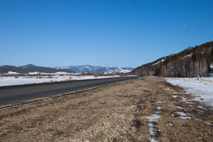 Buryatia. The road to the lake Baikal Royalty Free Stock Photo