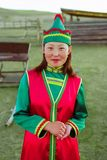 Buryats w obywatel sukni, etniczny wakacje miejscowy zaludnia Baikal zdjęcia royalty free