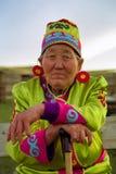 Buryats w obywatel sukni, etniczny wakacje miejscowy zaludnia Baikal zdjęcie royalty free