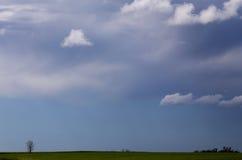 Burz chmur prerii niebo obraz royalty free