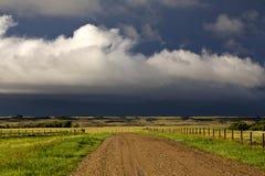 Burz chmur prerii niebo obrazy royalty free