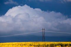 Burz chmur prerii niebo zdjęcia royalty free
