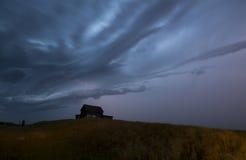 Burz chmur Saskatchewan błyskawica fotografia royalty free