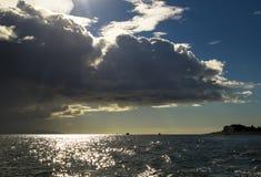 Burz chmury na zatoce Fotografia Stock