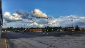 Burz chmury nad Joplin Missouri zdjęcia royalty free