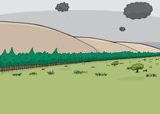 Burz chmury Nad sawanną royalty ilustracja