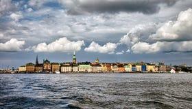 Burz chmury nad Sztokholm, Szwecja Zdjęcie Stock