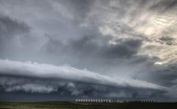 Burz chmury Saskatchewan obraz stock