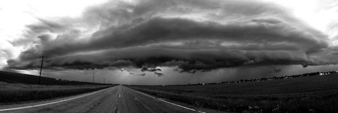 Burz chmury Saskatchewan fotografia stock
