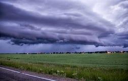 Burz chmury Saskatchewan zdjęcia stock