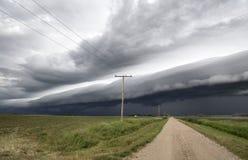 Burz chmury Saskatchewan obraz royalty free