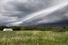 Burz chmury Saskatchewan obrazy stock