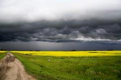 Burz chmury Saskatchewan zdjęcia royalty free