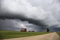 Burz chmury Saskatchewan zdjęcie royalty free
