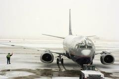 burza śnieżna portów lotniczych obrazy stock