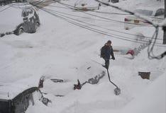 Burza śnieżny Juno Zdjęcia Stock