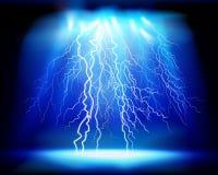 Burza, światła przedstawienie również zwrócić corel ilustracji wektora ilustracja wektor