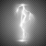 Burza błyskawicowy rygiel Wektorowa ilustracja na przejrzystym tle royalty ilustracja