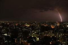 Burza & błyskawica na Dhaka Fotografia Stock