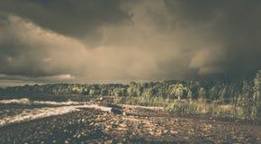 Burza blisko Owen dźwięka, Ontario Obrazy Royalty Free