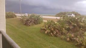 Burza jest nad atlantyckim oceanem Zdjęcia Stock