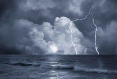 Burza na morzu Fotografia Stock