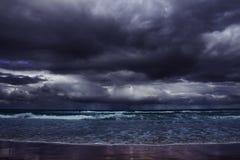 Burza na morzu Zdjęcia Stock