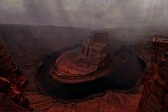Burza nad konia buta chyłem Kolorado rzeka obrazy royalty free