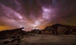 Burza nad pustynią Obrazy Royalty Free