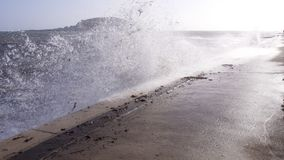 burza Ophelia dosięga Cornwall UK Zdjęcie Royalty Free