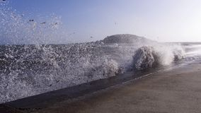 burza Ophelia dosięga Cornwall UK Fotografia Stock