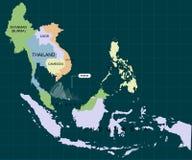 Burza Pabuk uderzać południowego Tajlandia Huragan - burza Pabuk Huragan szkoda również zwrócić corel ilustracji wektora ilustracji