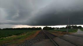Burza poruszający północny wschód w zachodnim Indiana zdjęcia stock