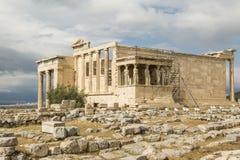 Burza przy akropolem Obrazy Royalty Free