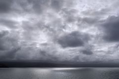 Burza przy morzem Zdjęcia Royalty Free