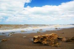 Burza przy morzem Obrazy Royalty Free