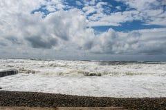 Burza przy morzem Zdjęcie Royalty Free