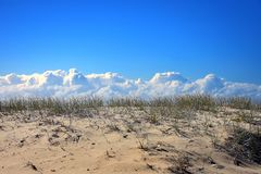 Burza przychodzi nad piasek diuną Fotografia Stock