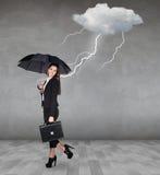 Burza strajki bizneswoman fotografia stock