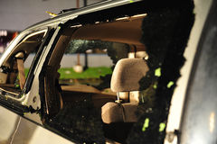burza uszkadzający samochód dostawczy Zdjęcia Stock