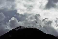 Burza w górach Obrazy Royalty Free