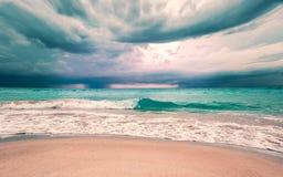 Burza w oceanie Obraz Stock