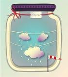 Burza wewnątrz może, Tapetować cięcie, Ablegruje sztukę royalty ilustracja