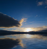 burza wschód słońca Obraz Royalty Free