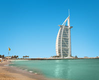 Burzh al Arab is well-known hotel Stock Photography