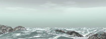 burzliwe morza royalty ilustracja