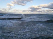 burzliwe morza Obrazy Royalty Free