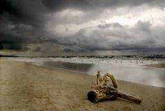 burzliwe na plaży Obrazy Royalty Free