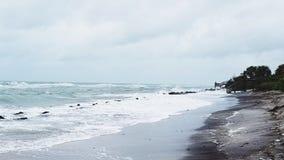 burzliwe na plaży Obraz Royalty Free